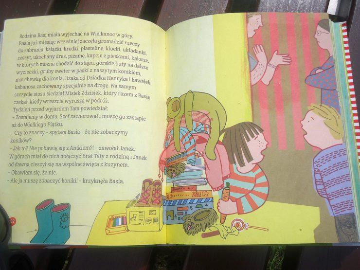 """przykładowa strona książki """"Basia Wielka księga przygód"""""""
