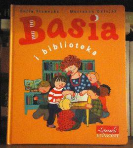 """okładka """"Basia i biblioteka"""""""