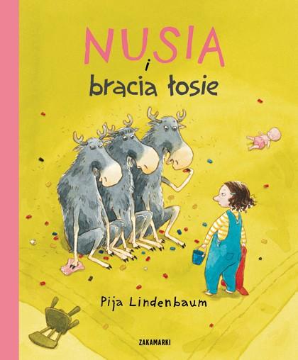 """okładka książki """"Nusia i bracia łosie"""""""