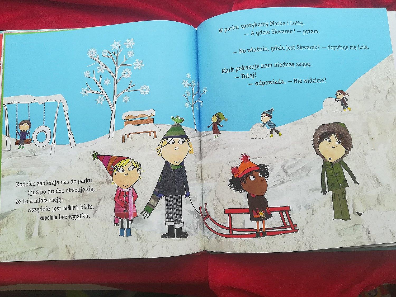 """""""Najbardziej na całym świecie lubię śnieg"""", Lauren Child, wyd. Media Rodzina, 2009."""